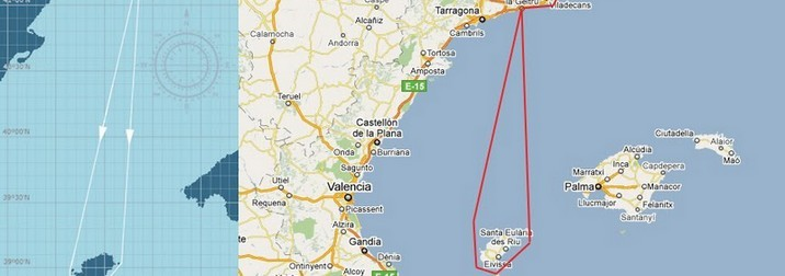 En Velero desde Sitges a Formentera