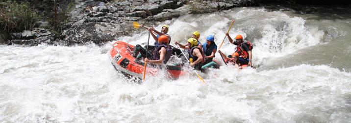Rafting y senderismo por el Congost de Montrebei
