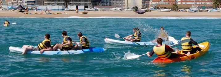 Finde de Paddle Surf y Kayak en Calella