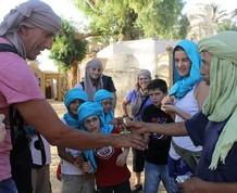 Fin de año en Túnez con los niños. Exploradores por el desierto