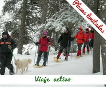 Nieve y raquetas en refugio exclusivo