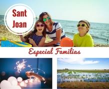 Sant Joan con los niños en el Delta del Ebro