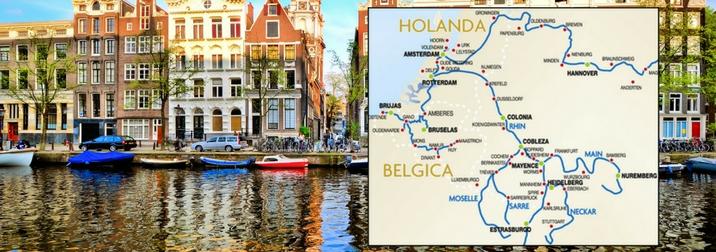 Agosto: Crucero fluvial por Holanda y Alemania