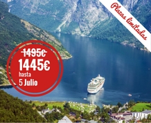 Julio: Crucero por los Fiordos ¡ÚLTIMAS 3 PLAZAS: 2 MAD Y 1 BCN
