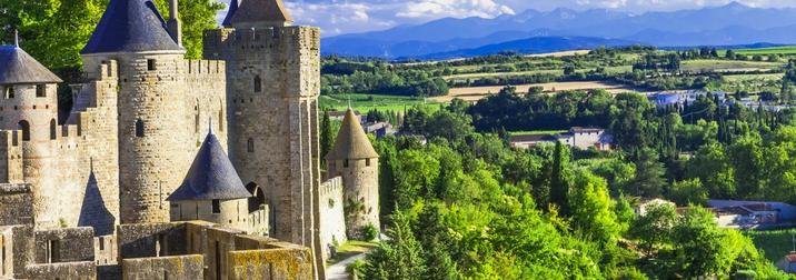 Puente de Octubre en Carcassonne, Narbonne & Toulouse