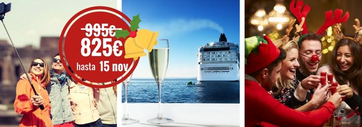 Navidad single en crucero Mediterráneo