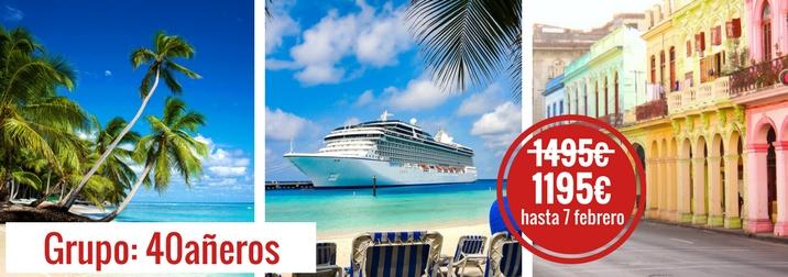 Mayo: Crucero por el Caribe. Grupo: 40añeros