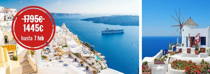 Agosto: Crucero por las Islas Griegas. Especial noche en Mykonos