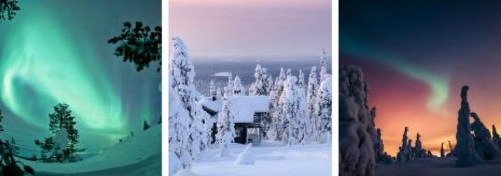 Aurore Boreali Trekking in Finlandia