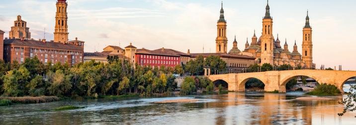 Primavera en Zaragoza y Monasterio de Piedra