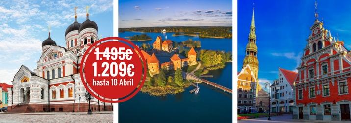 Septiembre:  Repúblicas Bálticas, parques, palacios y ciudades
