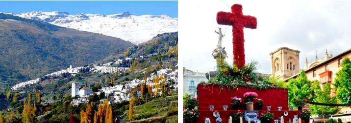 Puente en La Alpujarra y Fiesta de las Cruces de Granada