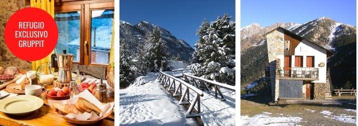 Puente en el Pirineo. Montaña, nieve y amigos en refugios exclusivos Gruppit