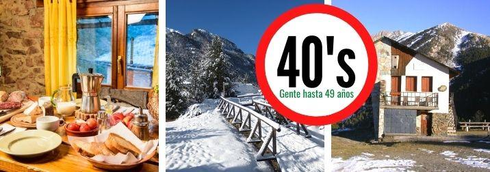 Gruppit Cuarenta's: Puente de Diciembre en el Pirineo, con refugios en Exclusiva (grupo menos de 49 años)